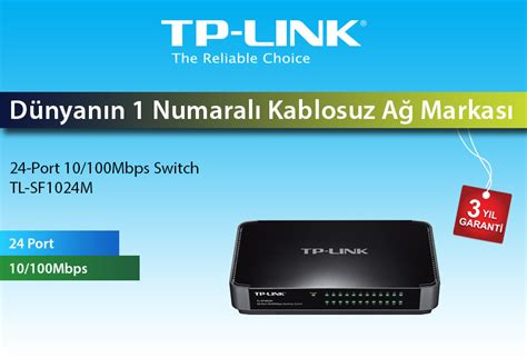 Tp Link Tl Sf1024m Switch 24 Port tp link tl sf1024m 24 port 10 100mbps masa 252 st 252 switch fiyat