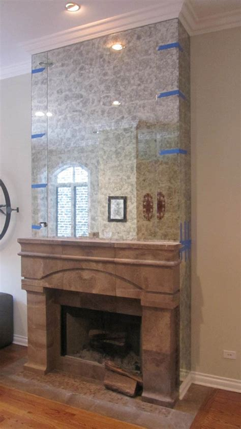 Install Fireplace Surround by Antique Mirror Install To Fireplace Surround Specialty