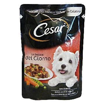 Cesar 100 Gr cesar buste 100 gr le delizie manzo verdure cibo per
