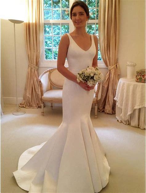 Silk Wedding Dresses Uk by 25 Best Ideas About Satin Wedding Dresses On