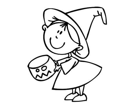 imagenes de halloween niños pidiendo dulces dibujo de ni 241 a pidiendo caramelos para colorear dibujos