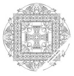 quot angel square mandala quot coloring page using ancient