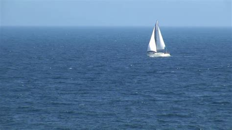 sailboat on spanish sailboat sailing in ocean in spain stock video footage