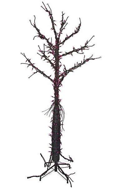 black tree with purple lights 6 black tree with purple lights