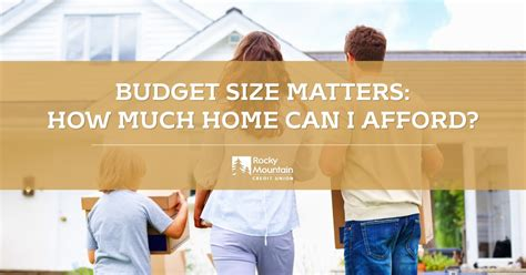 budget size matters how much home can i afford