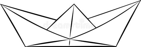 Black And White Origami Paper - simple paper ship boar origami black and white vector