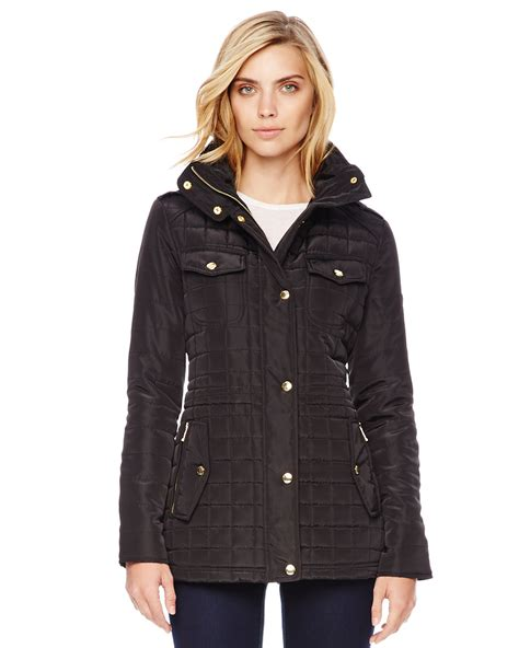 Quilted Puffer Jacket by Michael Kors Michael Quilted Puffer Jacket In Black Lyst