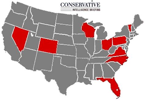 swing states map what the swing states say about 2016 conservative