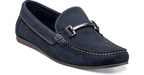suede bit loafers florsheim jasper suede bit loafers in blue for lyst