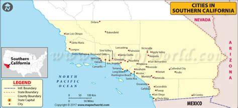 map of california usa with cities map of cities in southern california