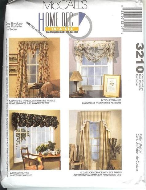 mccalls curtain patterns oop mccalls sewing pattern window treatment curtains