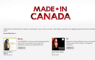 Opinions On Made In Canada - itunes celebrating canada s 147th birthday with made in