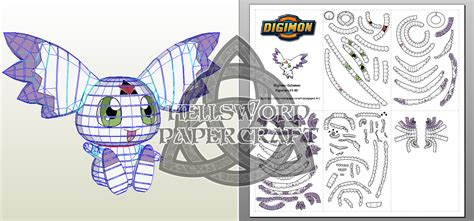 Digimon Papercraft - hellsword papercraft digimon culumon papercraft v2