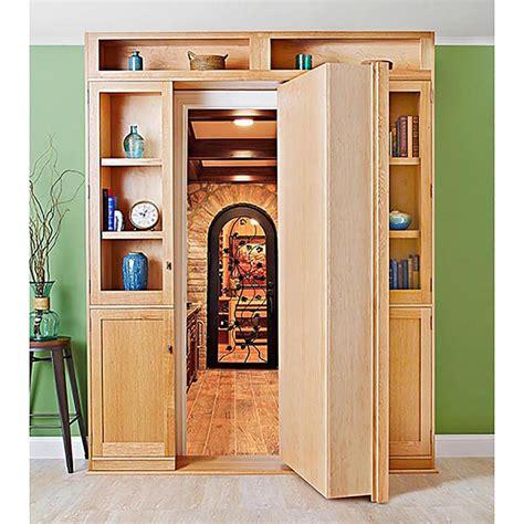 hidden bookcase door plans hidden door bookcase woodworking plan from wood magazine