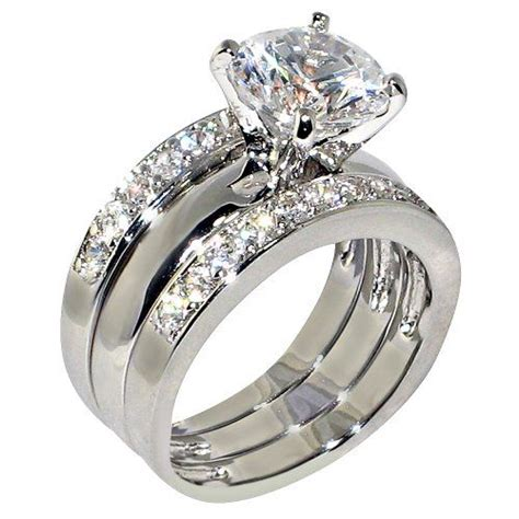 3piece Ring by Best 25 Cubic Zirconia Engagement Rings Ideas On