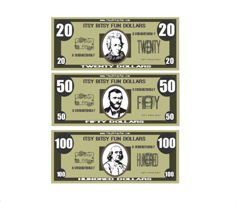 printable fake money pdf play money template free premium templates body
