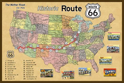 california map route 66 olde america antiques quilt blocks national parks