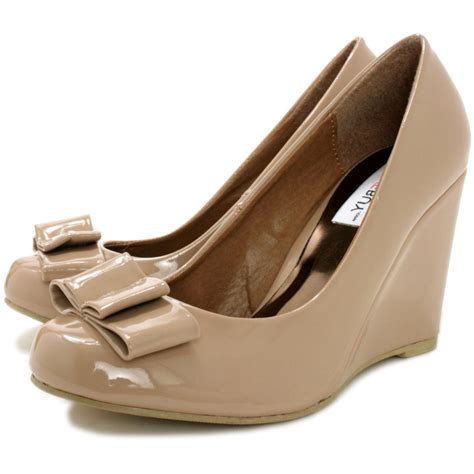 buy panama wedge heel court shoes patent