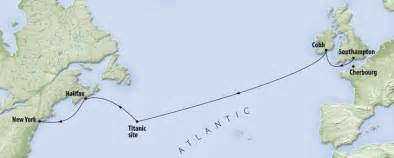 Titanic Route Map by The Voyage Of Titanic Ultimate Titanic