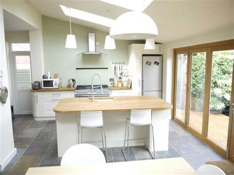 kitchen diner extension ideas velux pine finish centre pivot roof windows match the