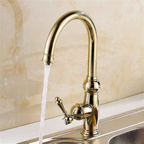 classical golden rotate 360 brass kitchen sink faucets