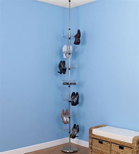 floor to ceiling shoe tree in shoe racks