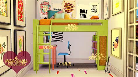 sims 4 bunk beds my sims 4 blog loft bedroom set by dreamcatchersims4