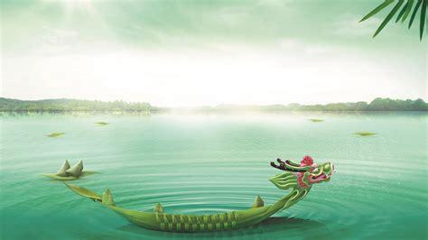 dragon boat zongzi wallpaper dragon boat festival dragon boat lake zongzi