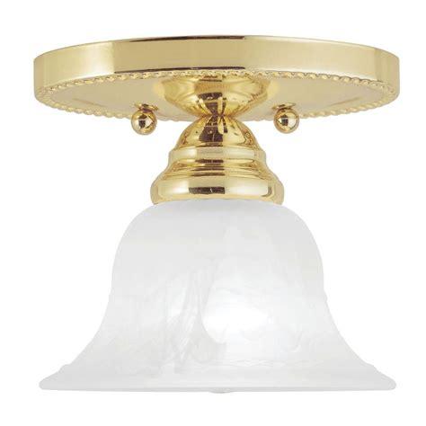 Livex Lighting Providence 1 Light Ceiling Polished Brass Polished Brass Ceiling Lights