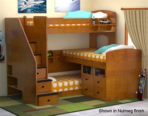 3 way bunk bed 3 way bunk bed 3 tier bunk beds diy furniture ideas