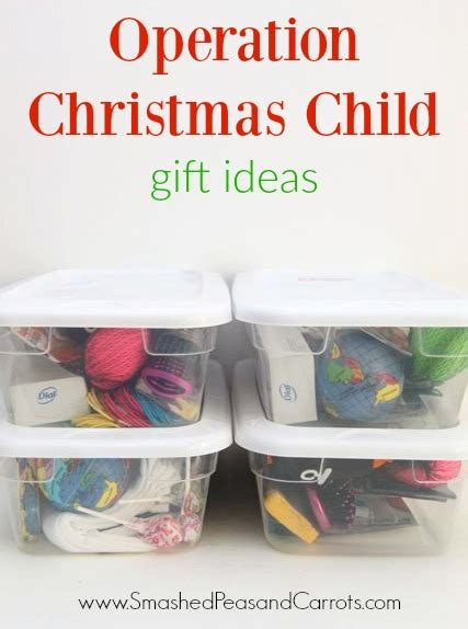 operation christmas child gift ideas smashed peas carrots