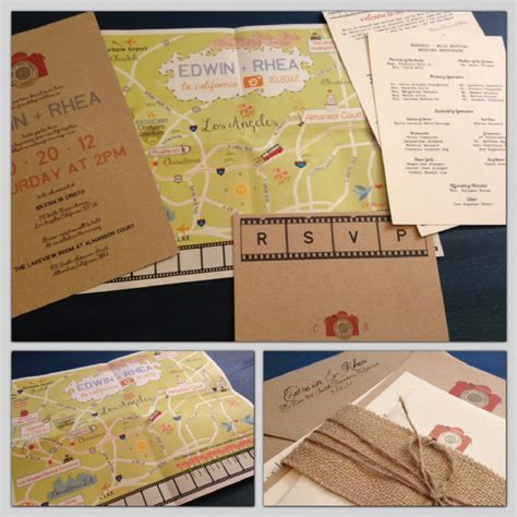 Unique Fold Out Wedding Invitations by Custom Map Fold Out Wedding Invitation Onewed