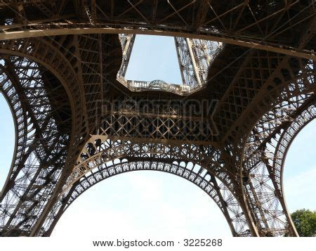 eiffel tower interior interior of the eiffel tower stock photo stock images