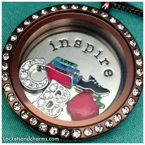 Origami Owl Chocolate Locket - origami owl large chocolate living locket 174 with crystals