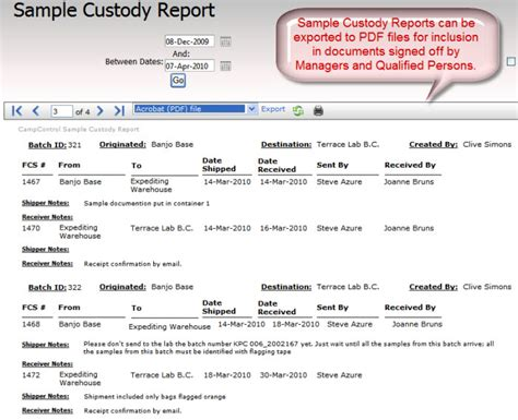 report layout design exles for a full appreciation of the ccontrol sle custody