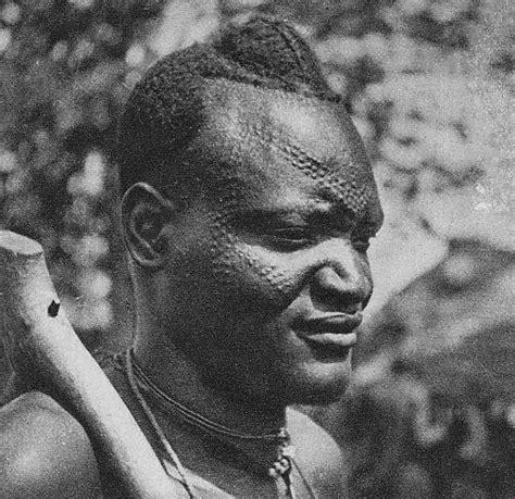africa sara kaba man chad scanned old postcard