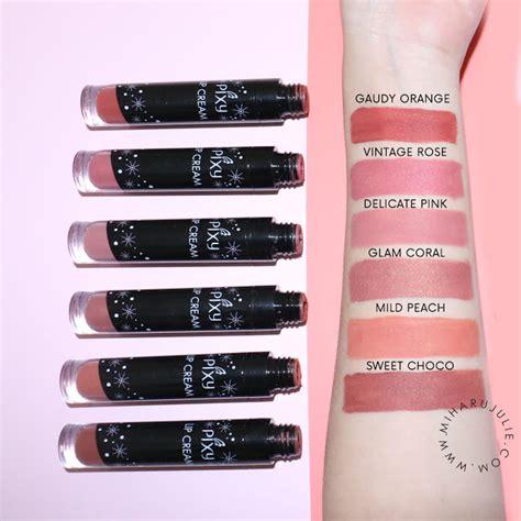 Lipstik Pixy Yang Baru baru pixy lip all colours review miharu julie