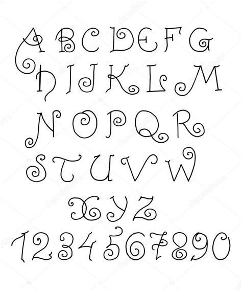 numero lettere alfabeto alfabeto vectorial n 250 meros y letras divertidas dibujados