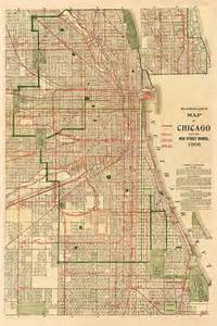 vintage chicago map vintage 1906 map of chicago