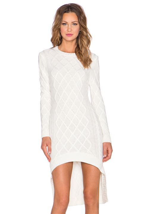 white knit dress lyst elliatt realm knit dress in white