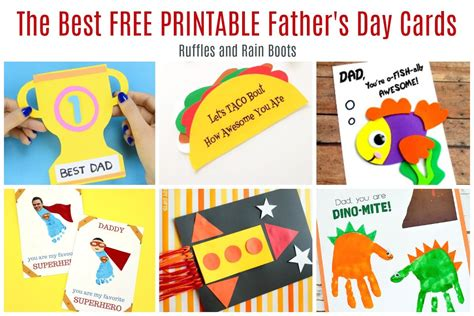 printable fathers day cards 12 free printable s day cards ruffles and boots