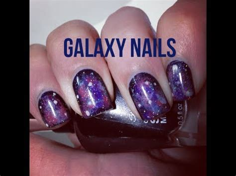 tutorial nail art galaxy easiest galaxy nail art tutorial youtube