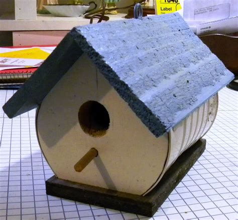 Handmade Materials - handmade bird house made with recycled materials last one