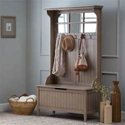 Entryway Mirror With Storage Gray Entryway Hall Tree Furniture Storage Bench Ebay