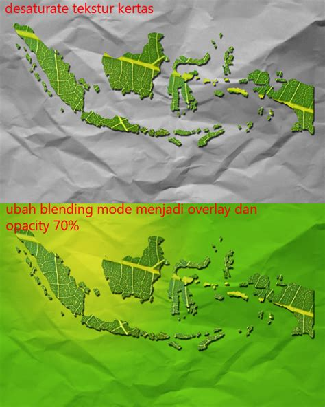 tutorial menggambar peta indonesia menggunakan tekstur daun untuk membuat wallpaper indonesia