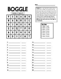 Boggle Activity Sheets | Word study activities, Word games
