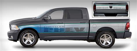 electric pickup truck chrylser announces plug in hybrid ram 1500 pickup truck