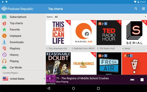 podcasts for android podcast republic android apps on play