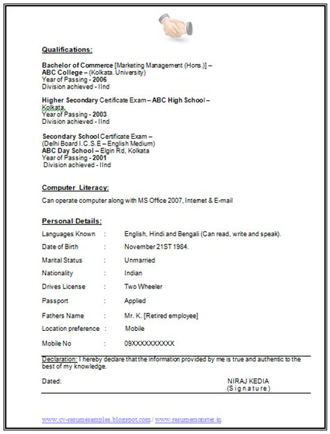 Sle Of Resume With Signature 2 Years Sales Experience Resume