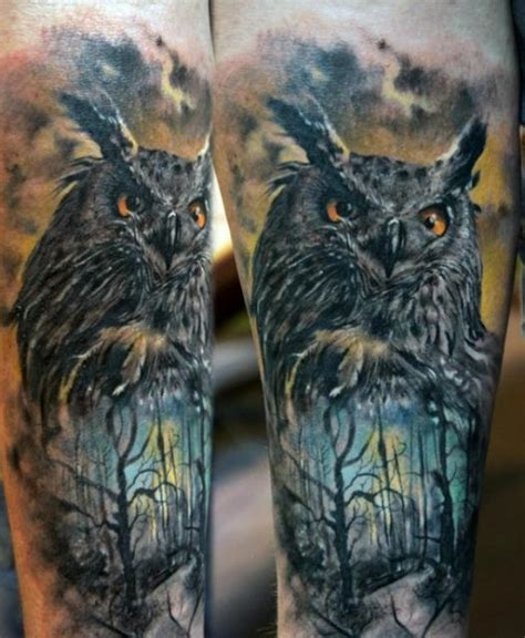 tattoo 3d owl amazing 3d tattoo of owl that is insanely awesome tats